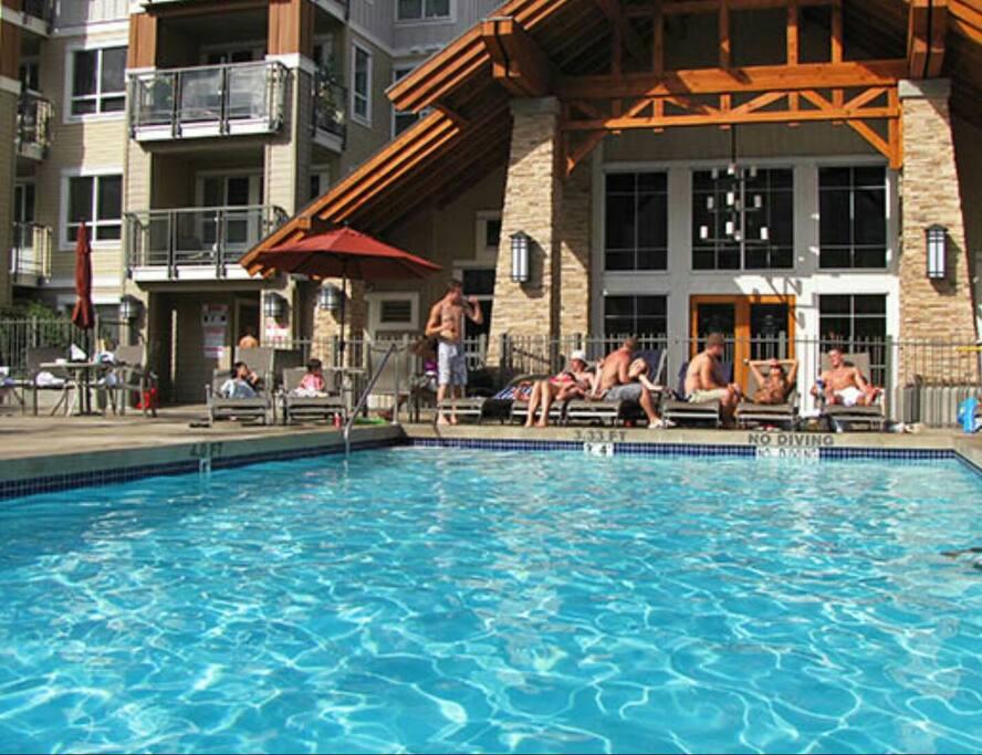 Pool outside the lounge
