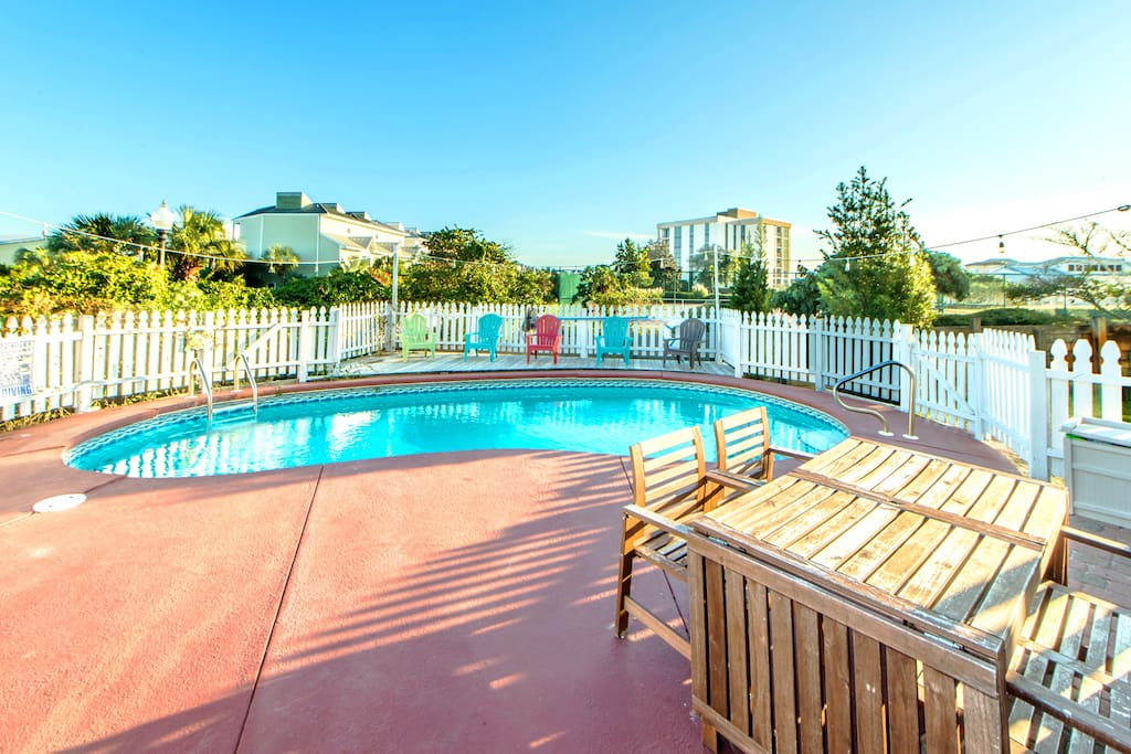 Pool Deck with Fenced Private Pool