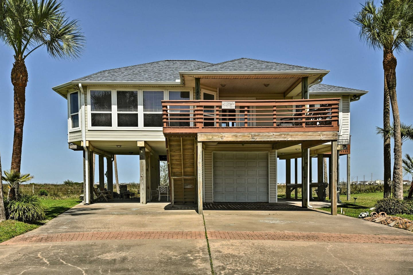Your ocean retreat awaits at 'Breezy V', a Galveston vacation rental house.