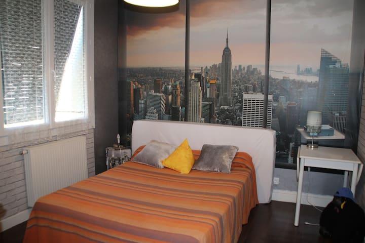 """Chambre """"New York"""" dans Maison / 5km Bellecour"""