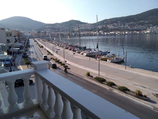 """aegean regatta 2018""in the port of Vathy, Samos."