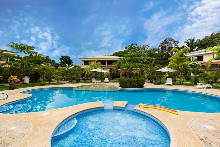 Enjoy the pristine pool and BBQ