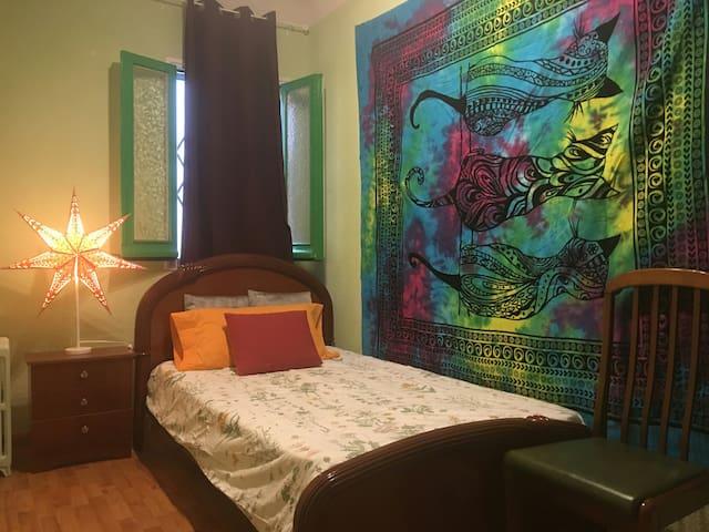 两个单人床的房间在马德里市中心