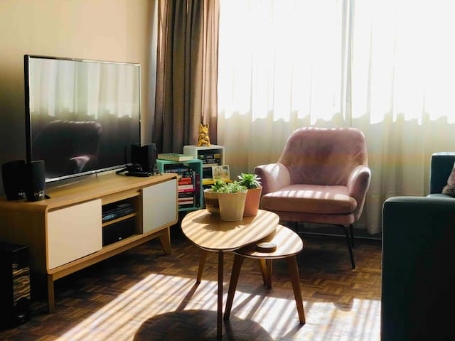 Spacious spare room in apartment, Bellas Artes.