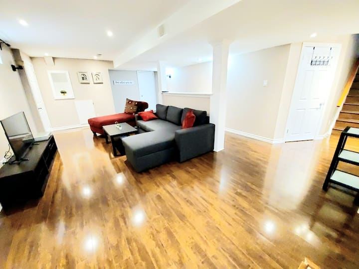 Bright, stylish Basement Apartment