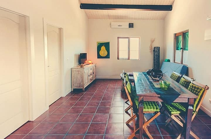 House with 2 bedrooms in Cañamero, with wonderful mountain view, shared pool, furnished garden