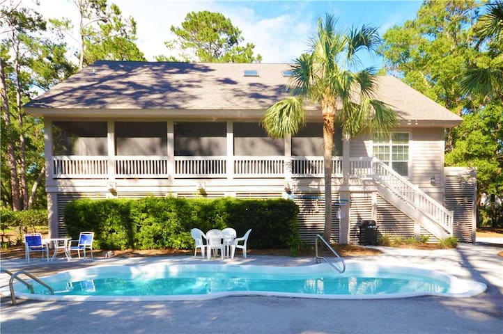 8 Swing About | Newly Renovated | Large Screened Porch | Private Pool | Golf View | Palmetto Dunes