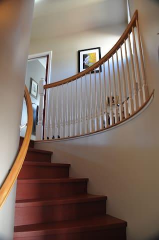 must climb stairs