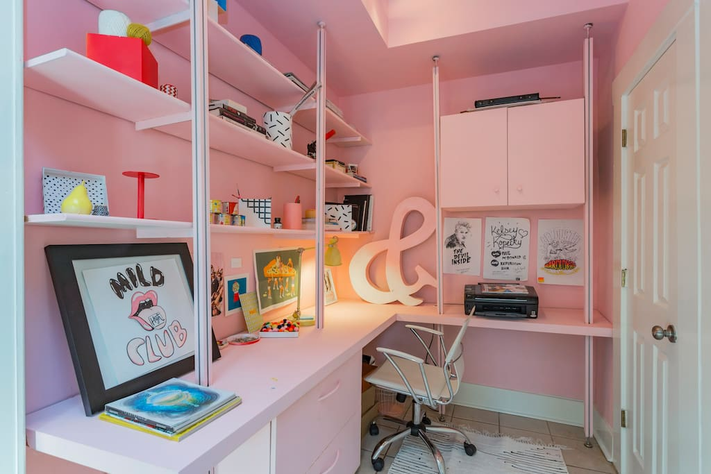 Need to work on your trip? Feel free to use my office...filled with lots of inspiration!