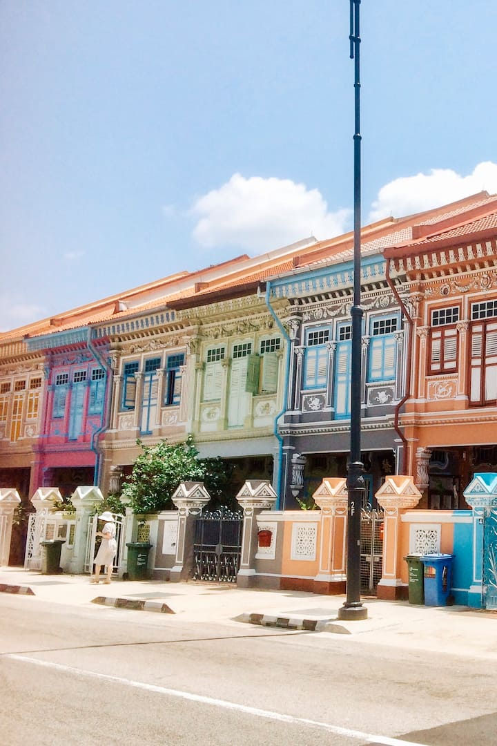 Peranakan style house along Koon Seng Ro