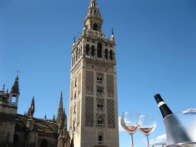 Junto a la Giralda, con terraza - Sevilla - Appartement