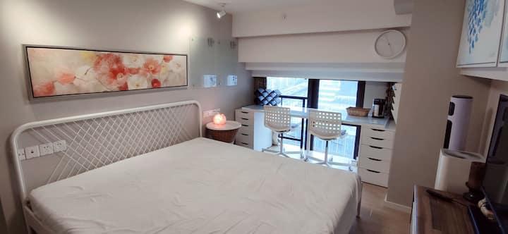 上海内环内3、4号线地铁上盖!loft公寓全新装修独立卫生间!大床房!