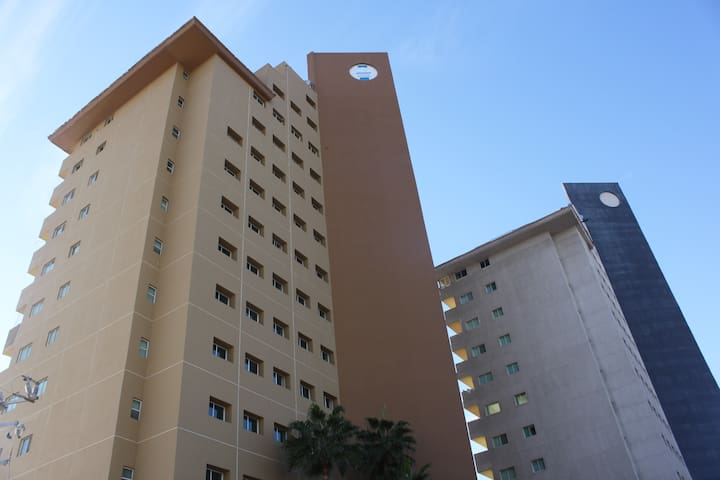 The apartment is located on Tower 1. On the second floor.