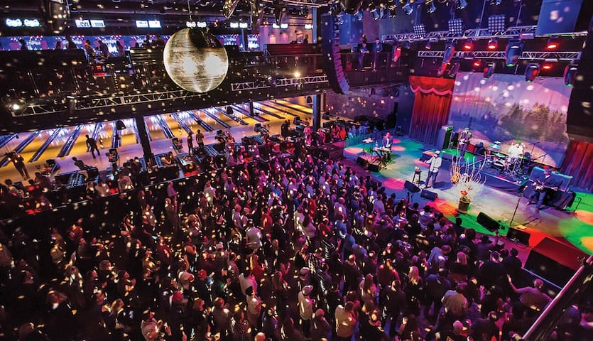 Brooklyn Bowl is a fun and young bowling and event space
