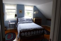 This is the second bedroom-double bed with temerapedic topper.  This room is slightly larger and has many extras.