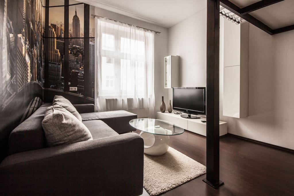 spacious living room to relax after a long sightseeing day