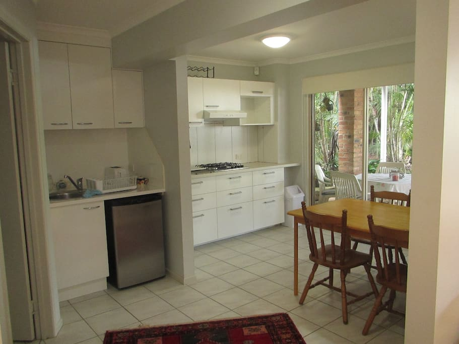 The kitchenette/dining area