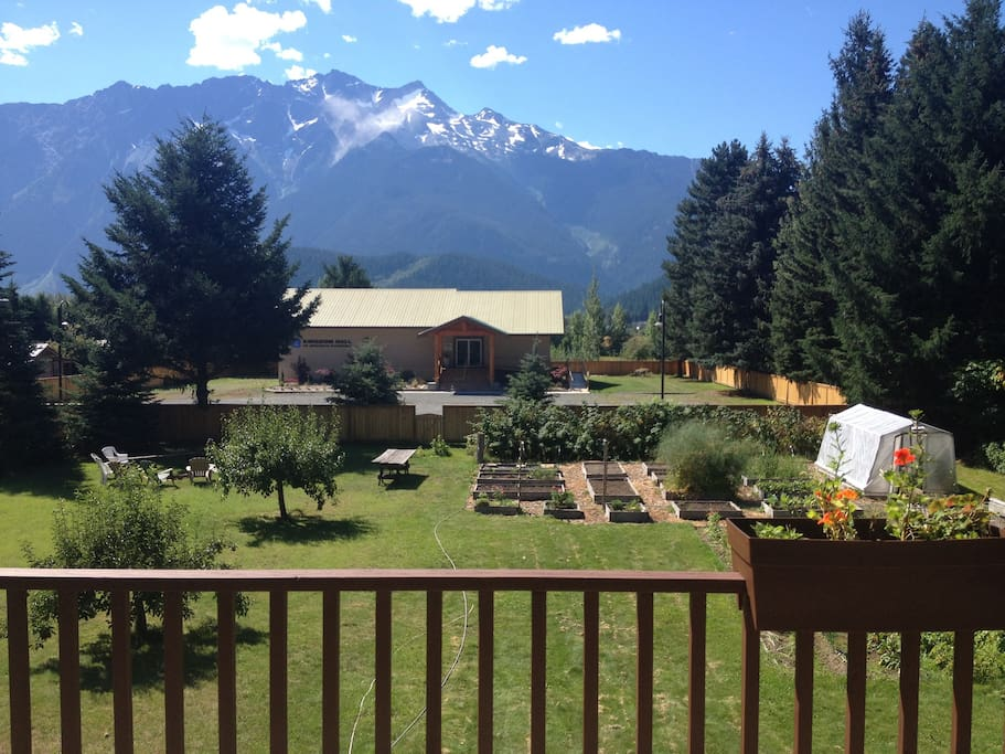 View of Mt Currie from deck