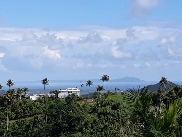 House with view of Vieques Island and Caribbean Sea.  (Art Studio to the left of the house.)