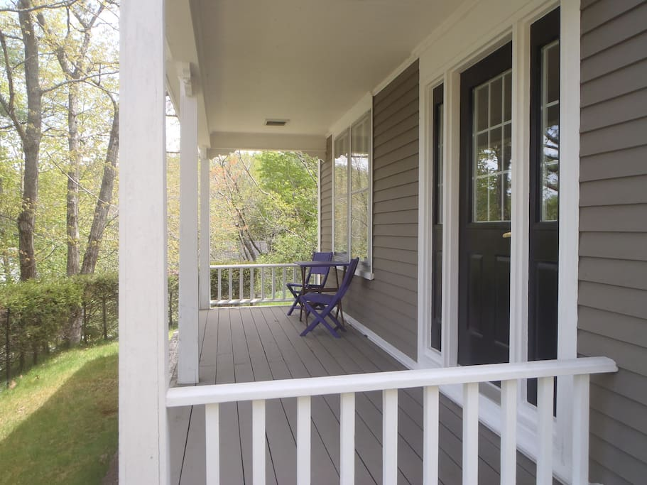 Enjoy your morning coffee or breakfast on our front porch, overlooking the Lahave River.