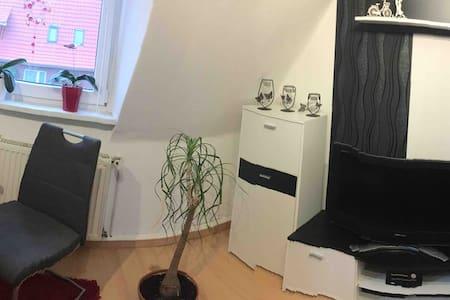 Zimmer mit Doppelschlafsofa und kleines Gäste WC