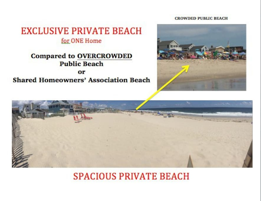 Exclusive private beach!