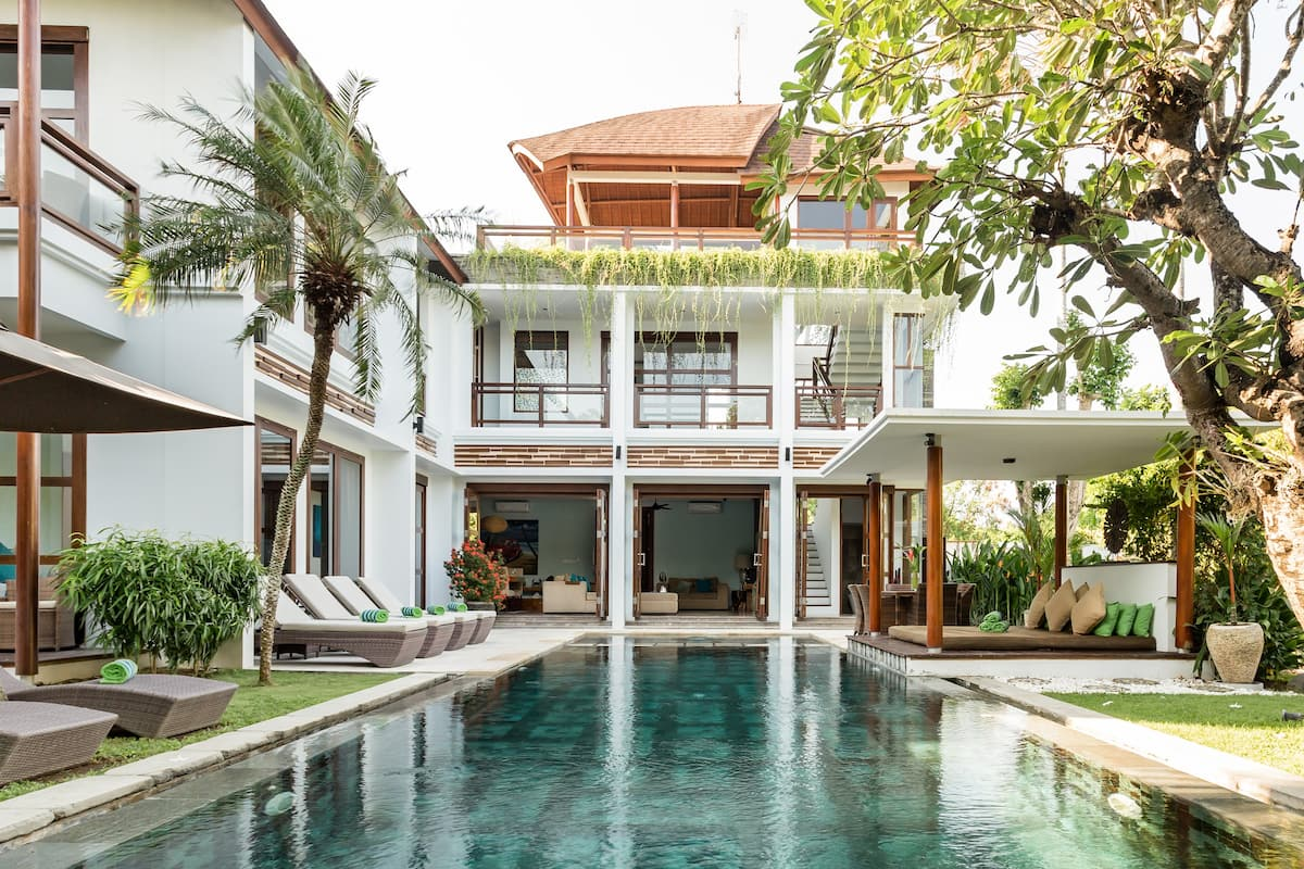 Go Surfing Near a Sprawling Family Villa in Canggu Beach