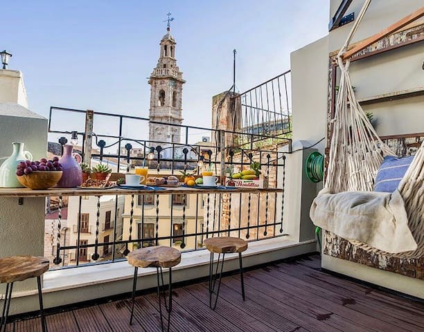 Central Market, Terraced Penthouse (+Wifi) - València