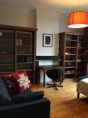 Spacious room and desk