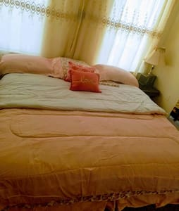 Nice area,large bedroom,king size bed.