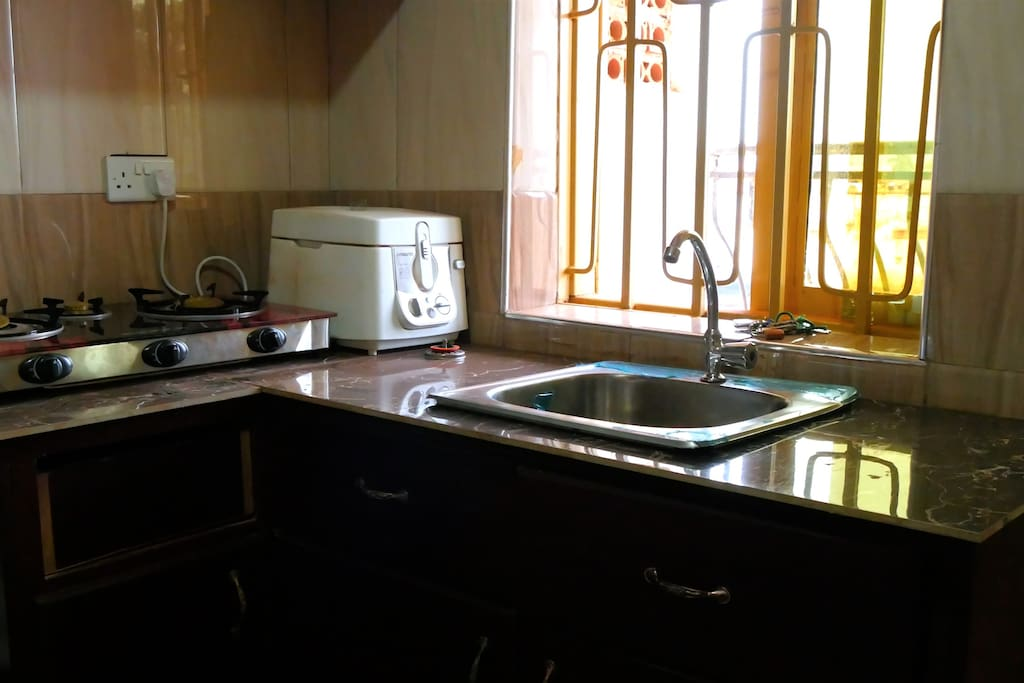 Our kitchens are equipped with Deep-friers and gas cookers ready to use