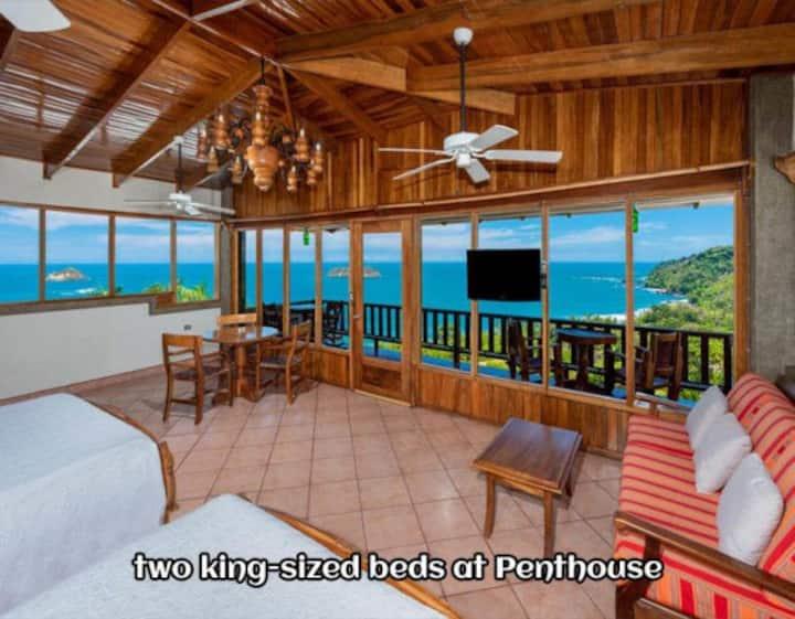 The Paradise Penthouse in Manuel Antonio Sleeps 4