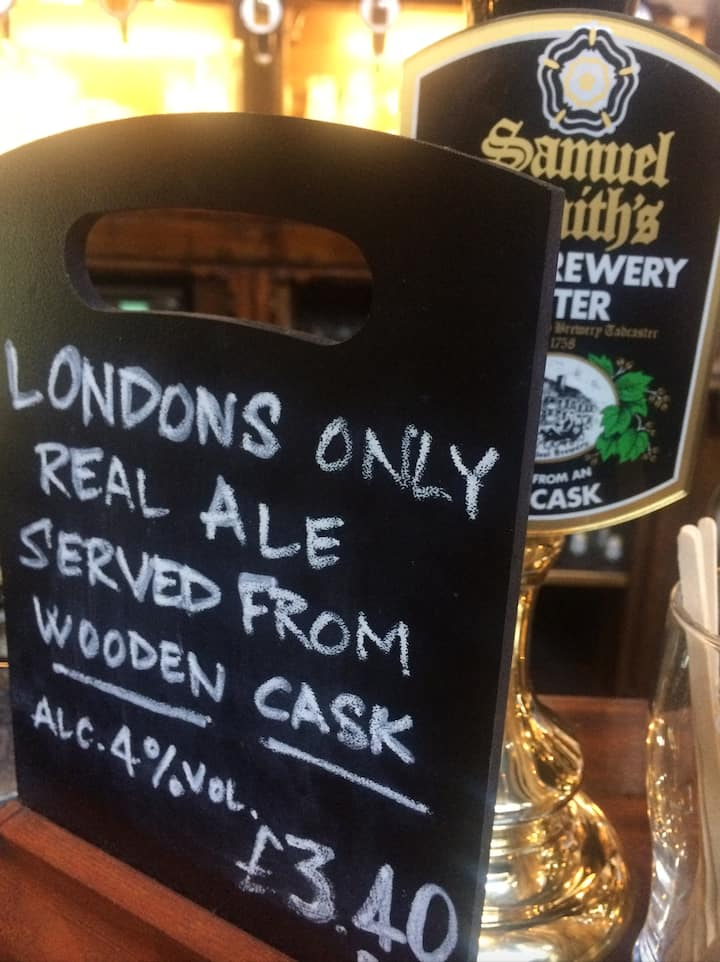 Traditional real ales...