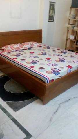 big comfortable bed for your homely stay