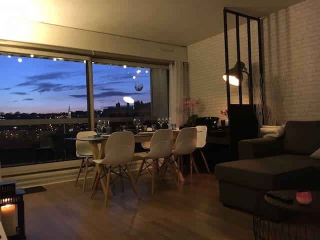 Espace, vues, balcon terrasse