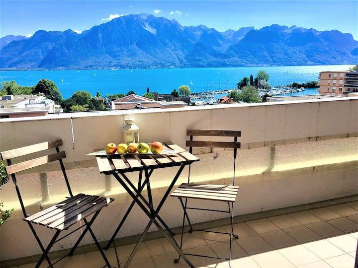 73.Moderne avec terrasse et vue totale sur le lac