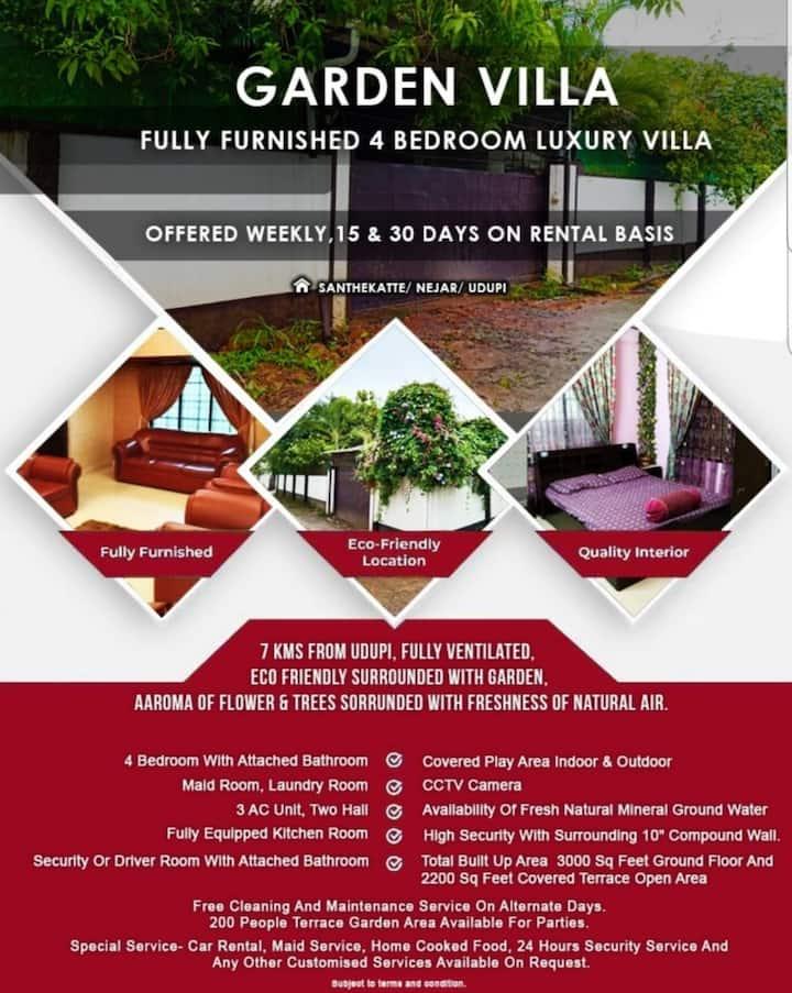 4 bedroom luxury garden villa