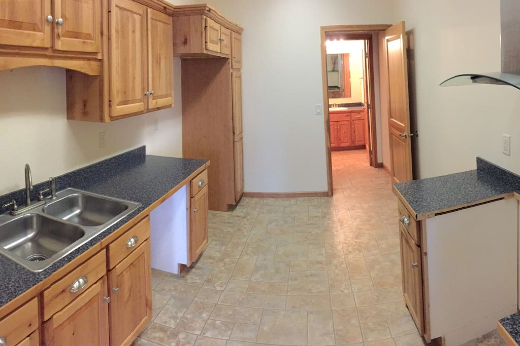 Kitchen will be equipped with full appliances and everything you will need for normal living.