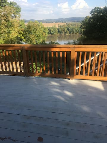 This is the deck that overlooks the Missouri River.