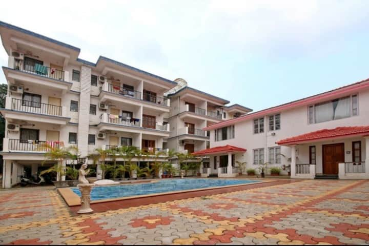 Stunning 2X4  BHK Apartment with Pool in Vagator