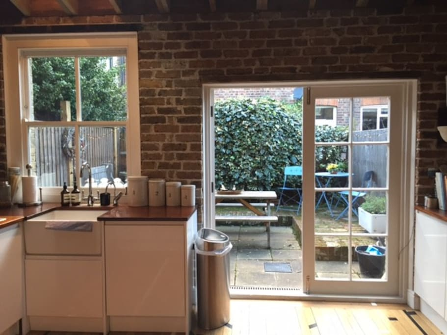 French doors on to garden