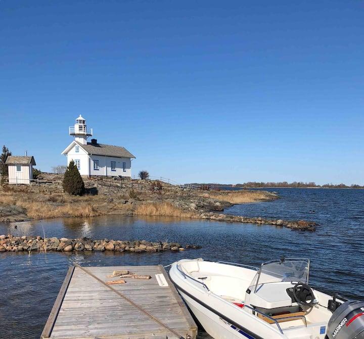 Lighthouse - Sauna -Own Island-Boat-Kayaks- Vänern