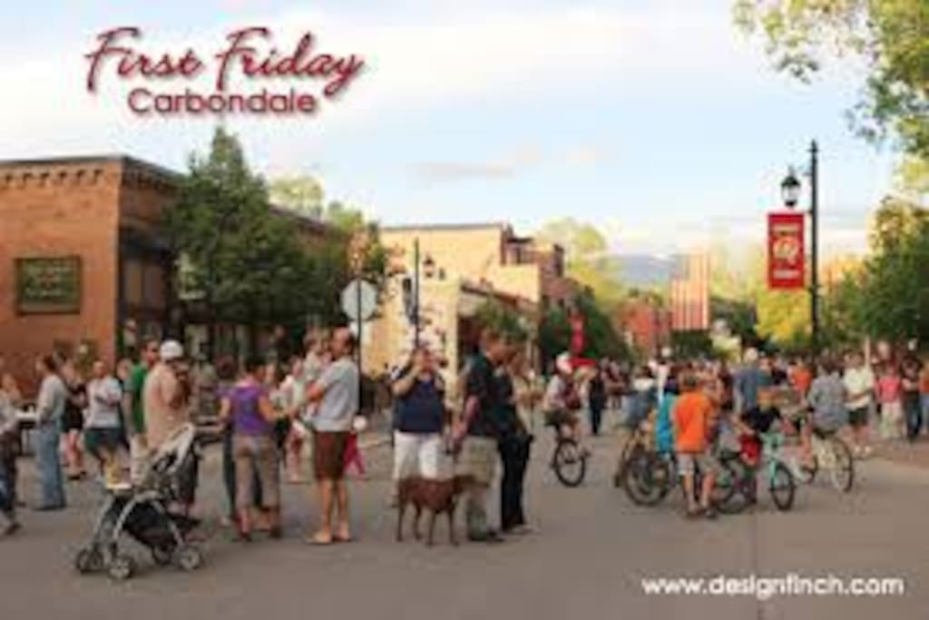 First Friday -- walk or ride!