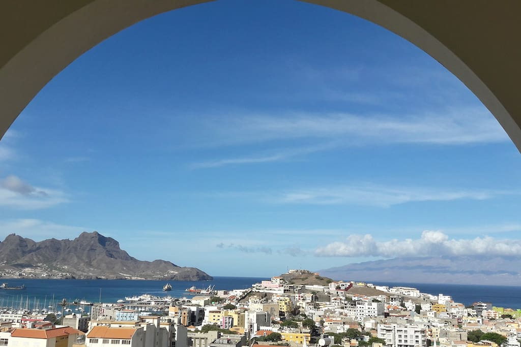 View from balcony over Mindelo Bay