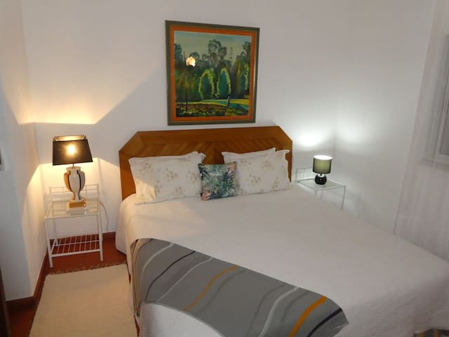 Bedroom 2, king size bed, air conditioning and its own bathroom.