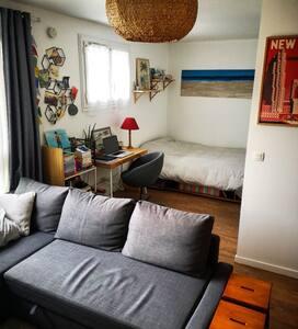 Appart-studio 35m2 chill&cosy aux portes de Paris!