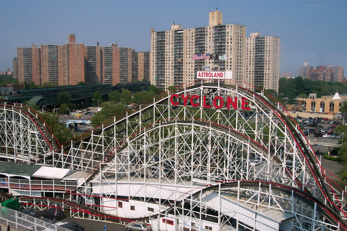 The Coney Island Cyclone (better known as simply the Cyclone) is a historic wooden roller coaster that opened on June 26, 1927, in the Coney Island section of Brooklyn, New York City.
