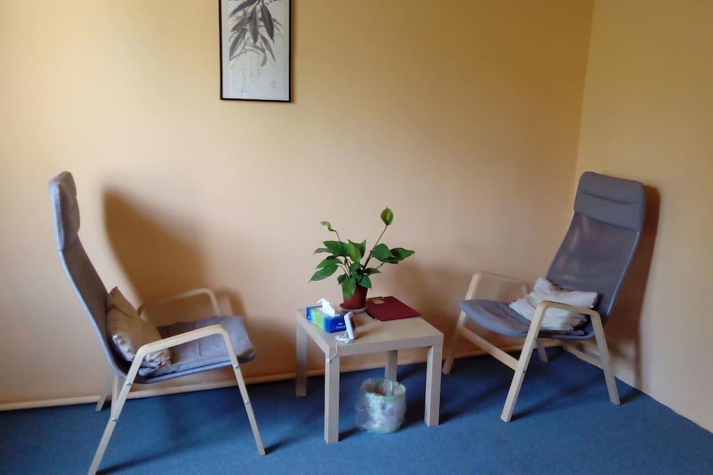 in smaller room (12 m2)