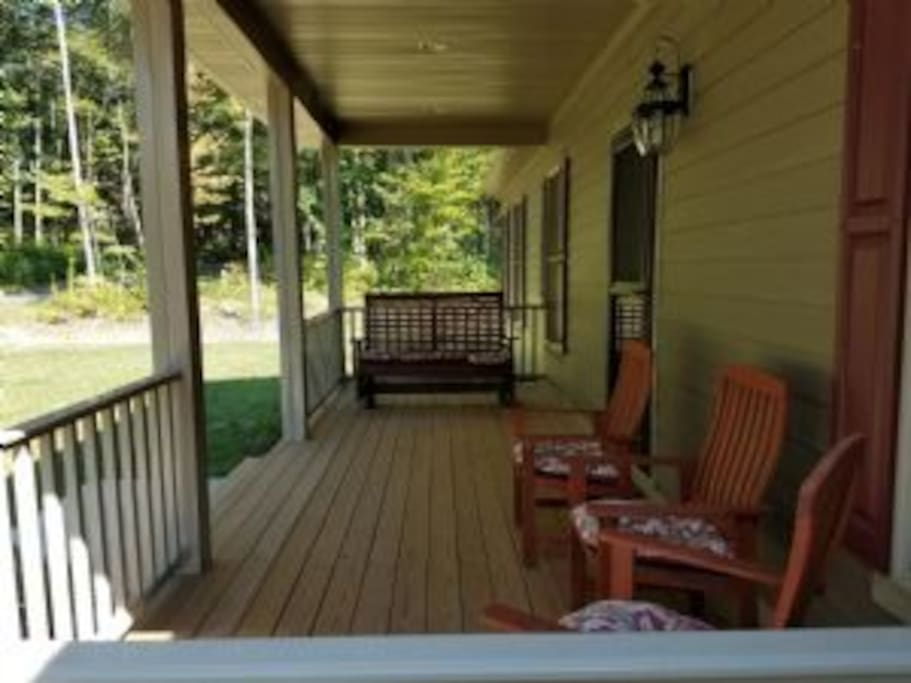Relax on the covered front porch
