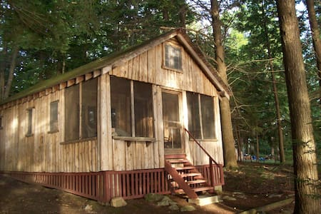 Nature Lovers Cabin on Cobbossee Stream - West Gardiner - Cabin